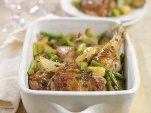 Gebratenes Hähnchen mit grünen Bohnen Rezept