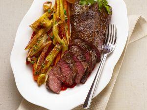 Gebratenes Rinderfilet mit Gemüse Rezept