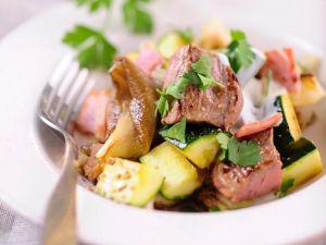 Gebratenes Rindfleisch mit Pilzen Rezept