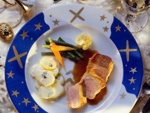 Gebratenes Schweinefilet mit Kartoffeln Rezept