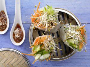 Gedämpfte Asia-Wraps Rezept