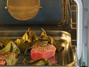Gedämpfte Thunfischfilets mit Koriandersalz Rezept
