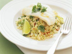 Gedämpfter Fisch mit Reis Rezept