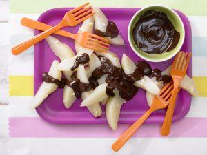 Gedünstete Birnen mit Schokolade Rezept