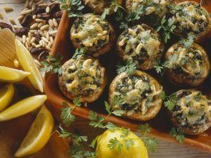 Gefüllte, gebackene Pilze Rezept