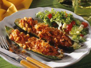 Gefüllte, gebackene Zucchini Rezept