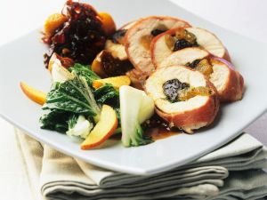 Gefüllte Hähnchenbrust mit Früchten Rezept