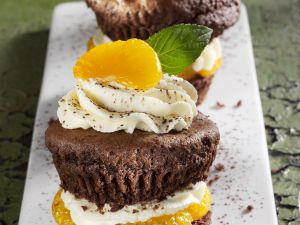 Gefüllte Kaffee-Schoko-Muffins Rezept