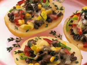 Gefüllte Kartoffeln gratiniert Rezept