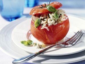 Gefüllte Tomaten mit Pilz-Risotto Rezept