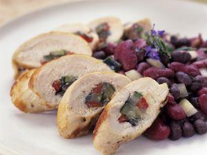 Gefülltes Hähnchenfilet mit Bohnen Rezept