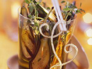 Gegrille, eingelegte Auberginen Rezept
