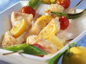 Gegrillte Fischspieße Rezept