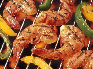 Gegrillte Garnelen mit Paprika Rezept