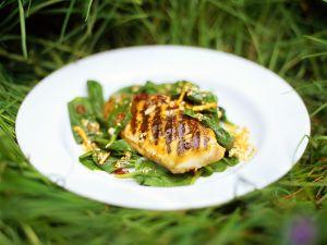 Gegrillte Hähnchenbrust mit Spinat Rezept