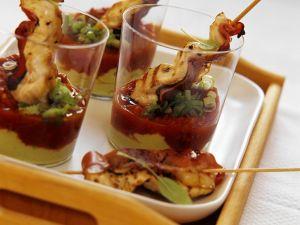 Gegrillte Hähnchnspieße mit Salsa Rezept