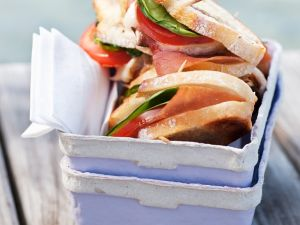 Gegrillte Schinken-Sandwiches Rezept
