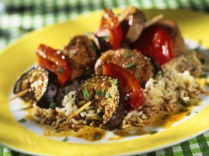 Sommergerichte Mit Schweinefleisch : Schweinefleisch gemüsespieße rezept eat smarter