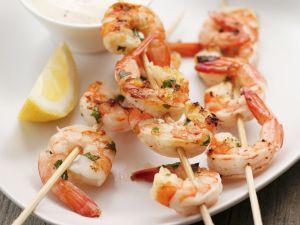 Gegrillte Shrimpsspieße Rezept
