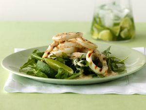 Gegrillter Calamari-Salat mit Rucola Rezept