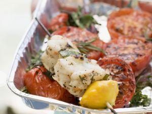 Gegrillter Fisch mit Tomaten Rezept