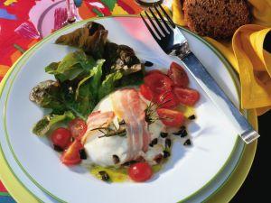 Gegrillter Mozzarella mit Bacon und Tomaten Rezept