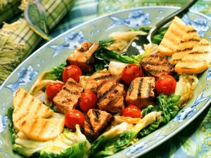Gegrillter Schwertfisch mit Polenta Rezept