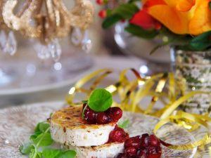 Gegrillter Ziegenkäse mit Crannberries Rezept