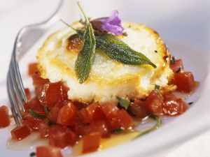 Gegrillter Ziegenkäse mit Tomatensalsa Rezept