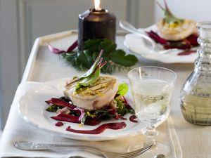 Gegrilltes Schwertfischsteak auf Salat Rezept