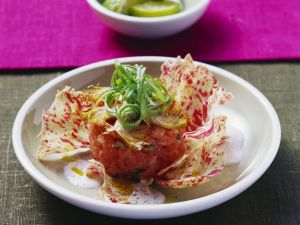Gehackter Thunfisch mit Artischocken und Limettensoße Rezept