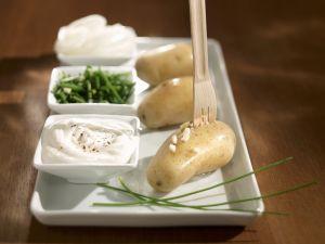 Gekochte Kartoffeln mit Quarkdip (Bibeleskäs) Rezept