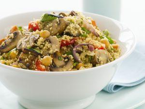 Gemüse-Couscous mit Champignons Rezept