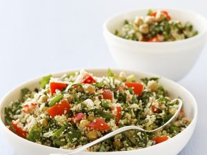 Gemüse-Couscous mit Kichererbsen Rezept