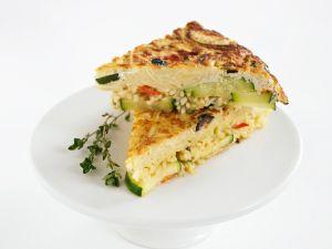 Gemüse-Frittata mit Nudeln Rezept