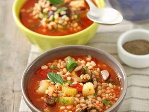 Gemüse-Gerstensuppe Rezept