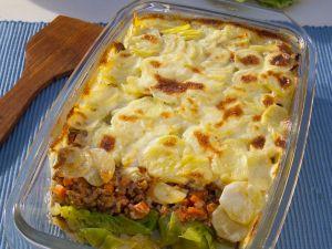 Gemüse-Hackfleisch-Gratin Rezept