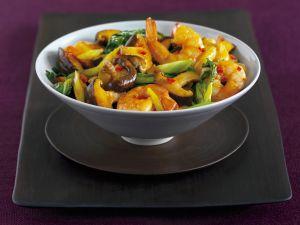 Gemüse mit Garnelen Rezept