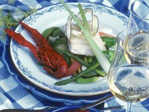 Gemüse mit Krebsen und Fisch Rezept