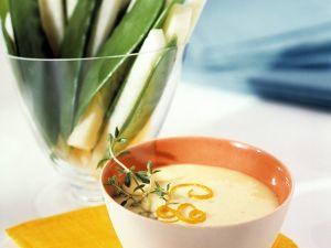 Gemüse mit Quarkdip Rezept