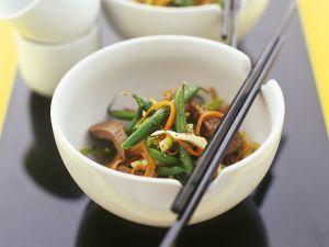 Gemüse mit Rinderfilet aus dem Wok Rezept