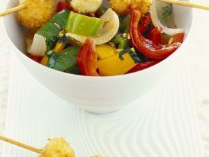 Gemüse-Mozzarella-Spieße Rezept