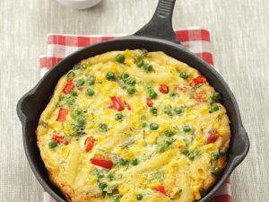 Gemüse-Omelette mit Nudeln Rezept