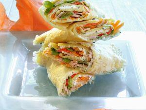 Gemüse-Putenwraps mit Fisch Rezept