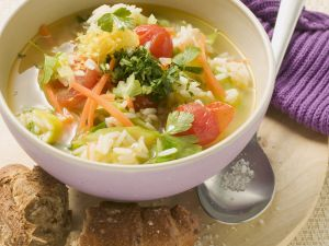 Gemüse-Reis-Suppe Rezept
