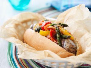 Gemüse-Sandwich mit Wurst Rezept