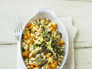 Gemüse-Weizen-Pfanne Rezept