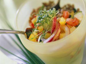 Gemüse-Weizensalat Rezept