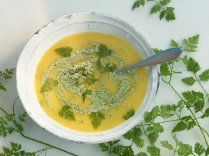 Gemüsecremesuppe mit Kerbel Rezept
