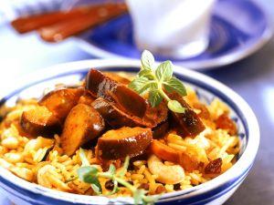 Gemüsecurry mit Reis Rezept